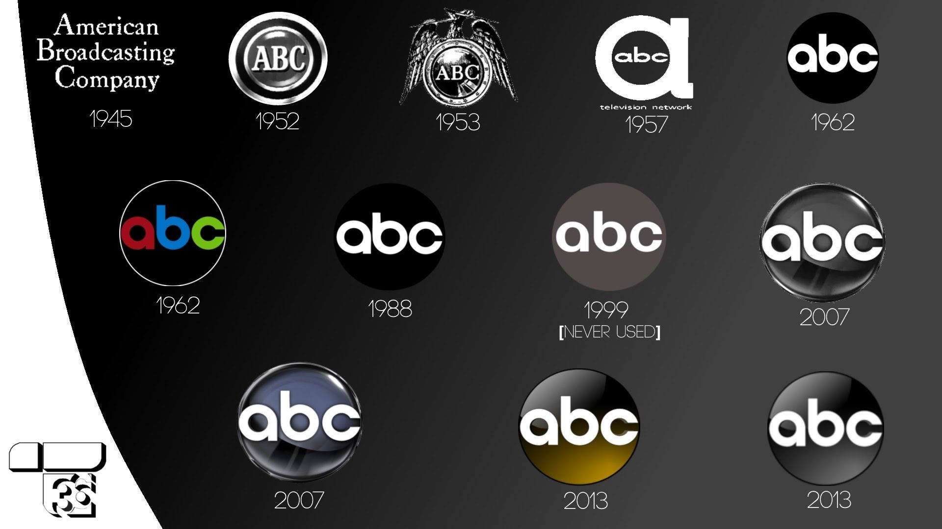 Abc American Broadcasting Company Id Logo History 1942 2016 Abc Company Id Broadcast