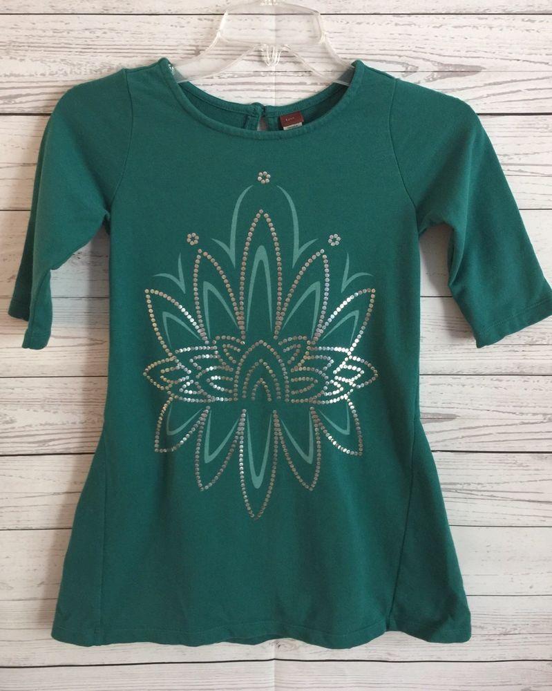 Girls Size 7 Emerald Green Tea Collection 100% Cotton    eBay