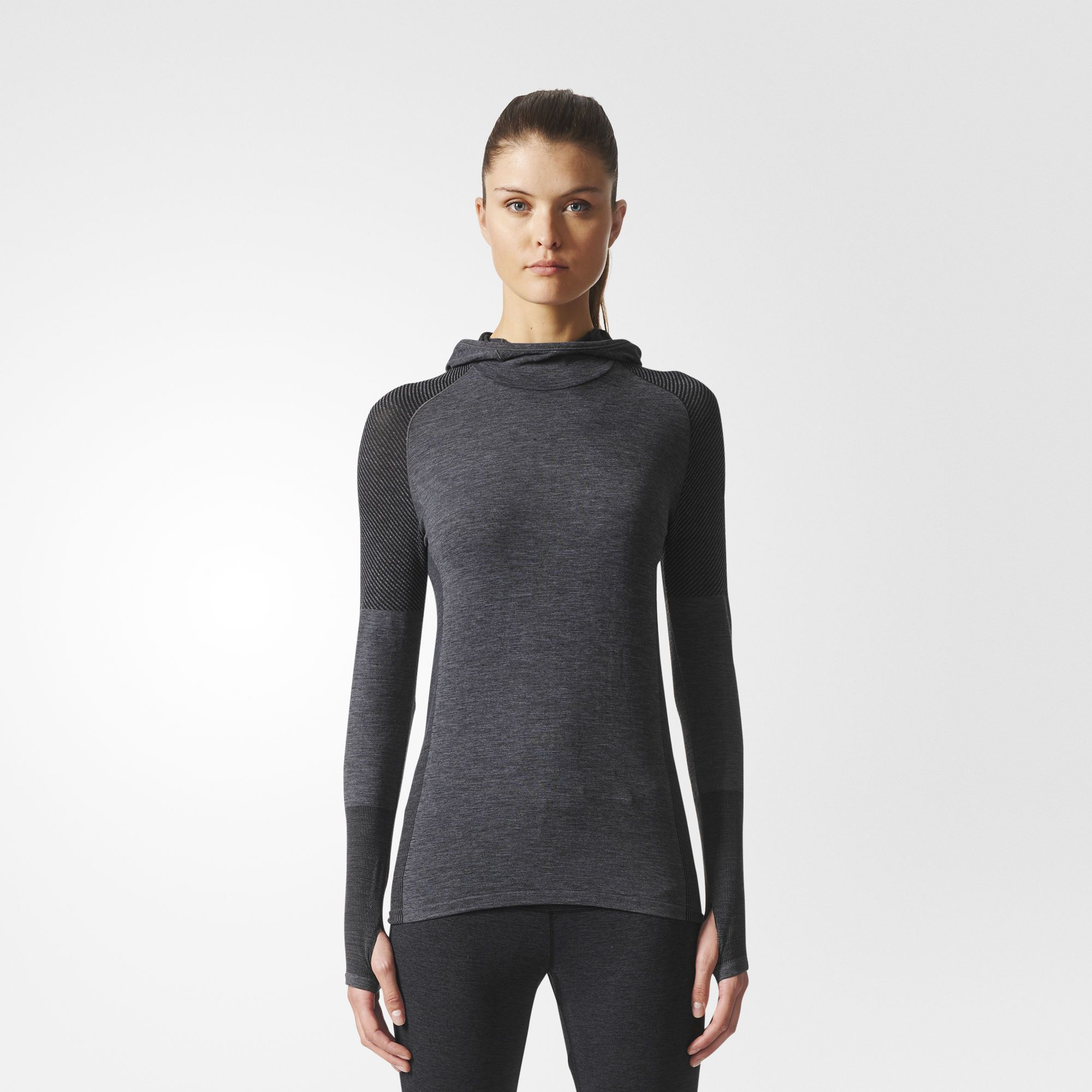 Runners Know That Generating Heat Is The Easy Part Even In Cold Weather Holding On To Your Body S Warmth Womens Long Sleeve Shirts Adidas Women Cool Outfits [ 2000 x 2000 Pixel ]