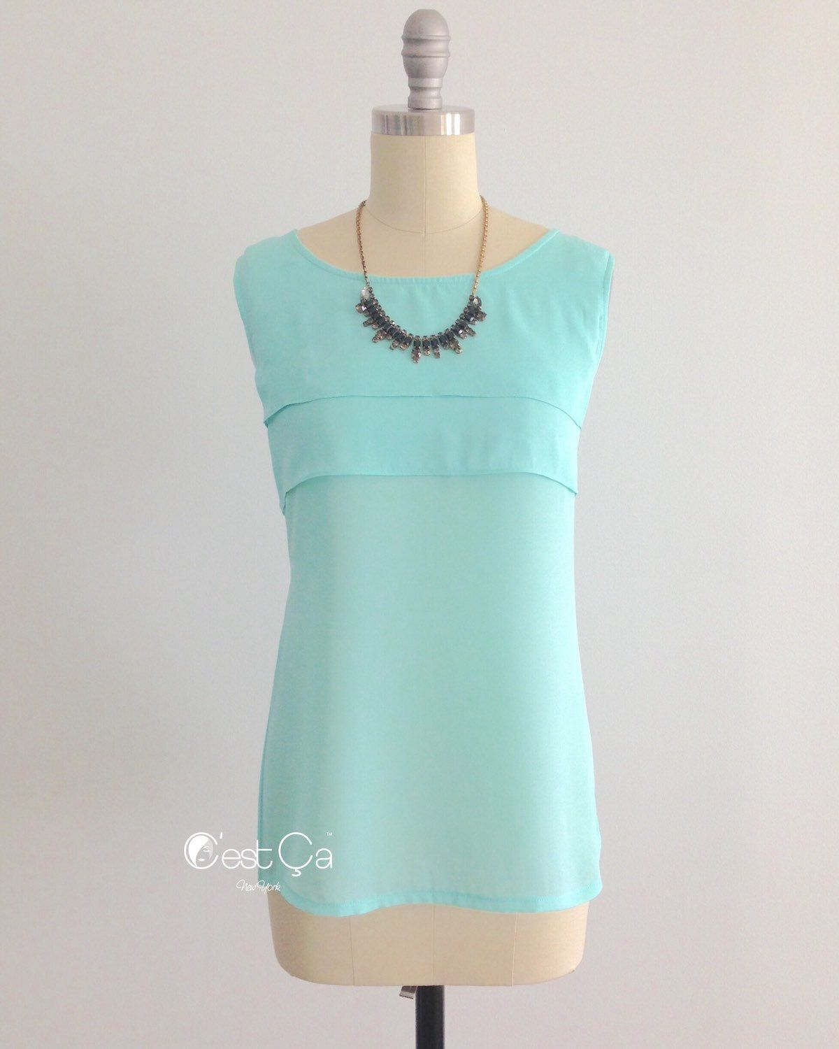 ec13843a15 Rita - Turquoise Loose Fit Top