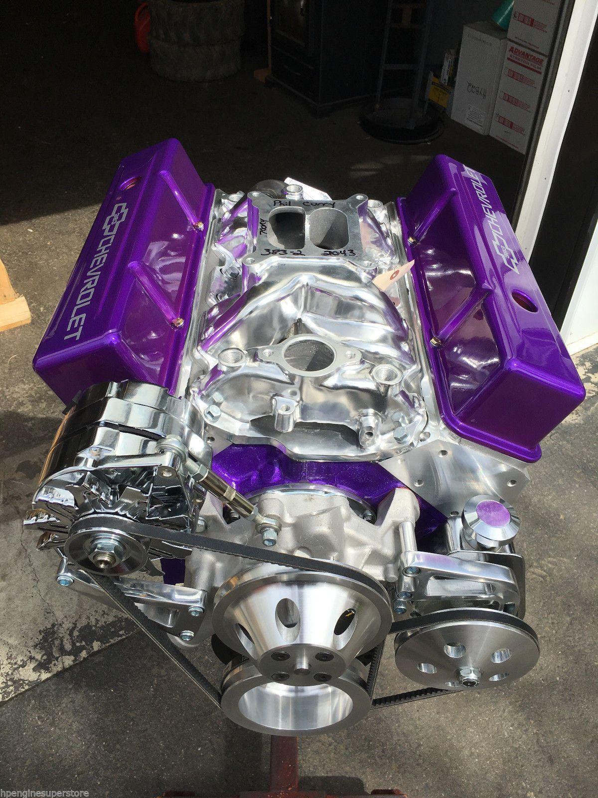 383 stroker motor 465hp roller turn key pro street chevy crate
