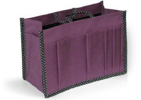 Handbag Organiser And Liner Or Makeup Bag Purple By