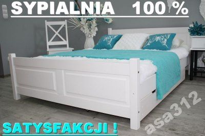 łóżko Lena Białe 180x200 Stelaż Sypialnia 100 M Beds