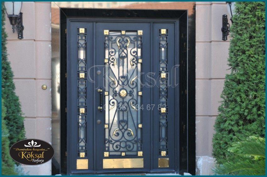 Koksal Ferforje 90 533 334 67 82 Iron Building Entrance Door Building Entrance Door Design Kapilar Villa Bina