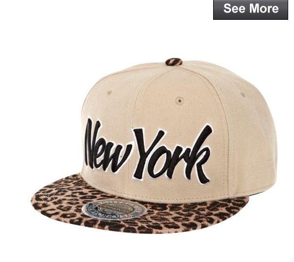 52ee993a080 Khaki New York leopard print peak trucker hat