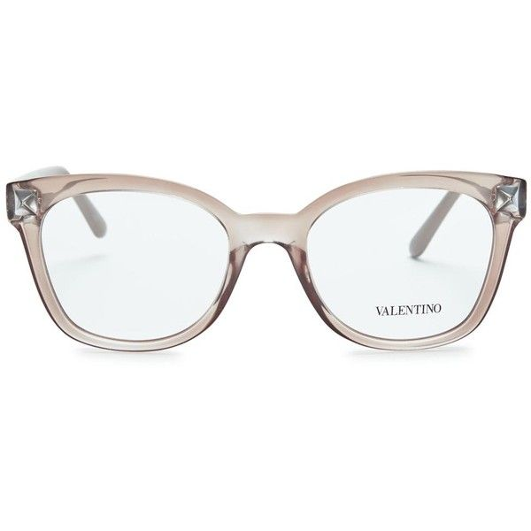 a92fb389ae Womens Optical Frames Valentino Nude Wayfarer-style Optical Glasses (315  AUD) ❤ liked on Polyvore featuring accessories
