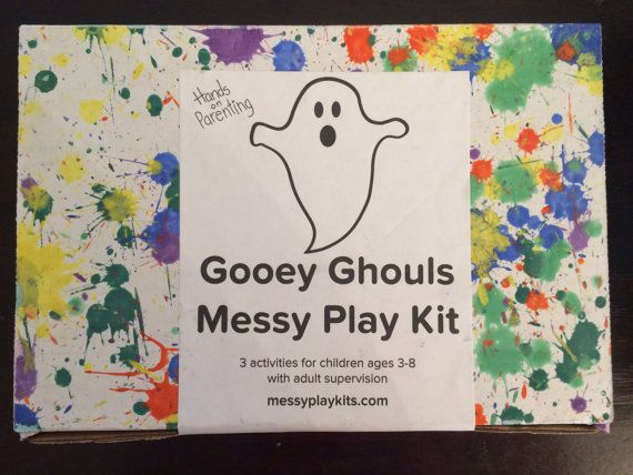 halloween craft kit for kids green slime kit toys for 3 year old halloween kids craft box sensory toys kids box messy play kit - Halloween Crafts For 8 Year Olds