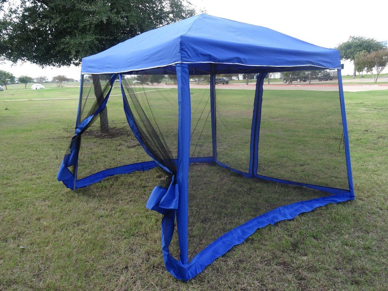 Deltacanopy 8 X8 10 X10 Blue Slant Leg Pop Up Tent With Mosquito Net 89 99 Http Deltacanopy Com 8x8 10x10 Blue Slant Leg Pop Pop Up Tent Gazebo Tent