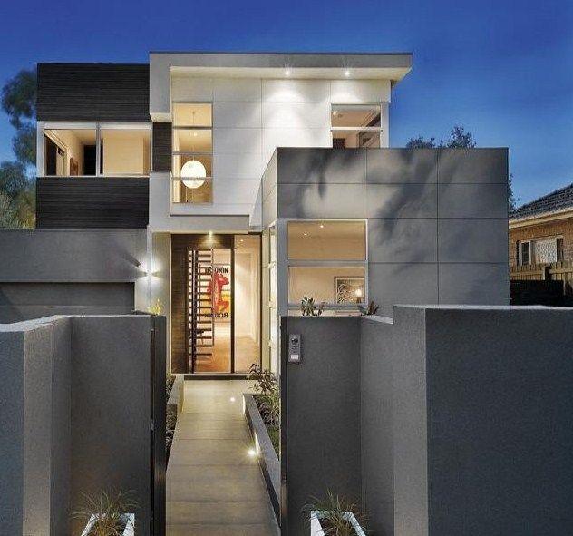 Fachadas de casas pintadas de color gris ideas para casa - Fachadas de casas pintadas ...