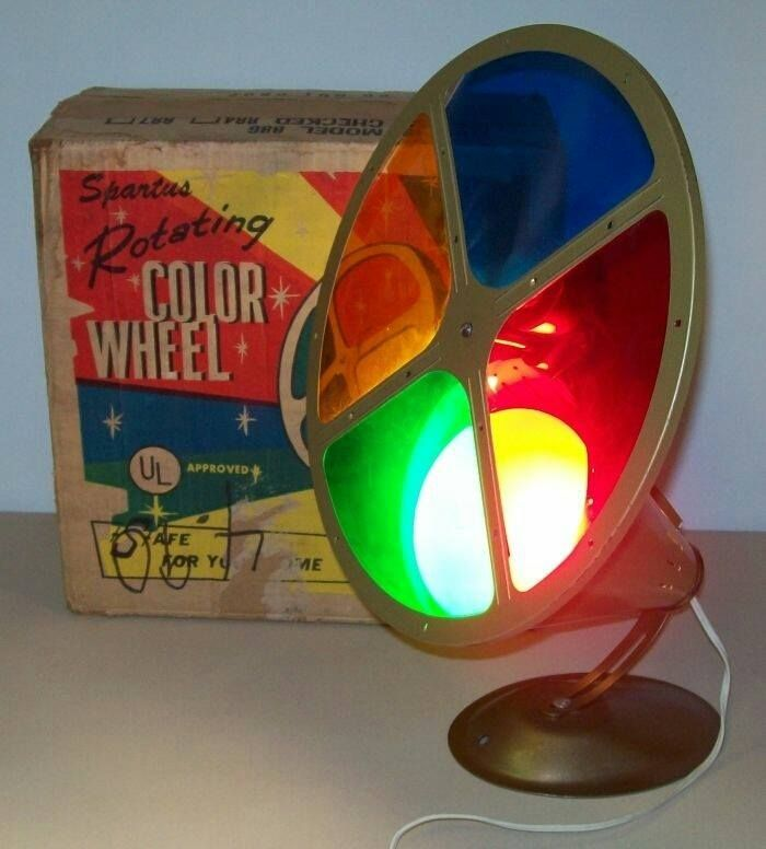 Color Wheel For Silver Christmas Trees Mid Century Christmas