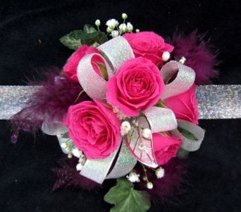 Pretty in pink wrist corsage tocadosiana s pinterest order pretty in pink wrist corsage from dodge the florist your local portland florist for fresh and fast flower delivery throughout portland me area mightylinksfo