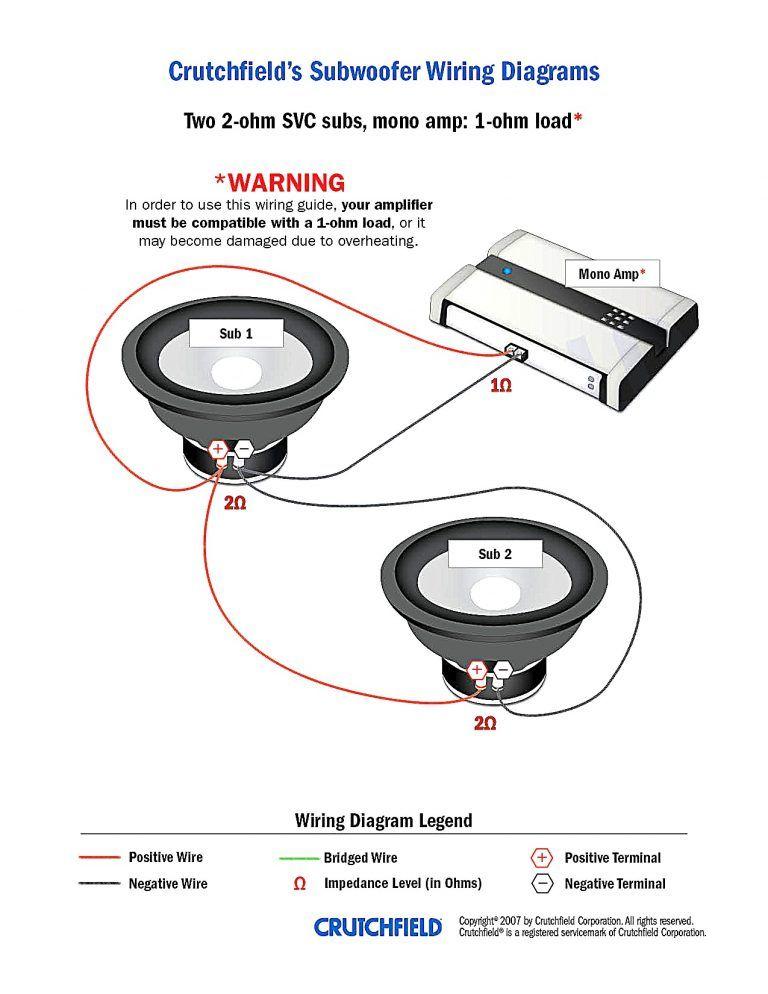 subwoofer wiring diagram  subwoofer wiring wiring speakers