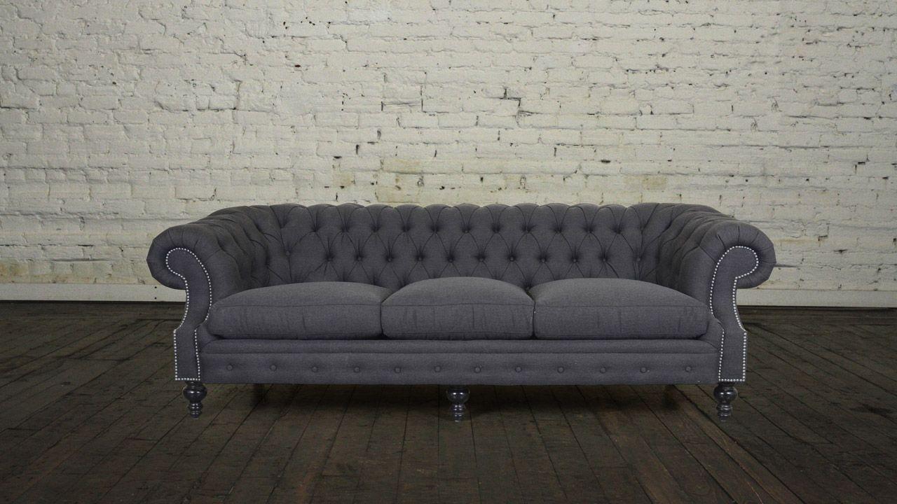 Biltmore chesterfield fabric sofa custom chesterfield sofa and furniture maker
