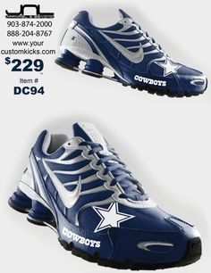 Custom Dallas Cowboys Nike Turbo Shox Team Shoes More