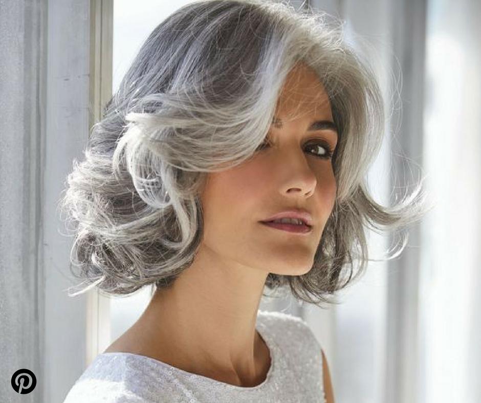 42+ Coiffure mi longue cheveux gris idees en 2021