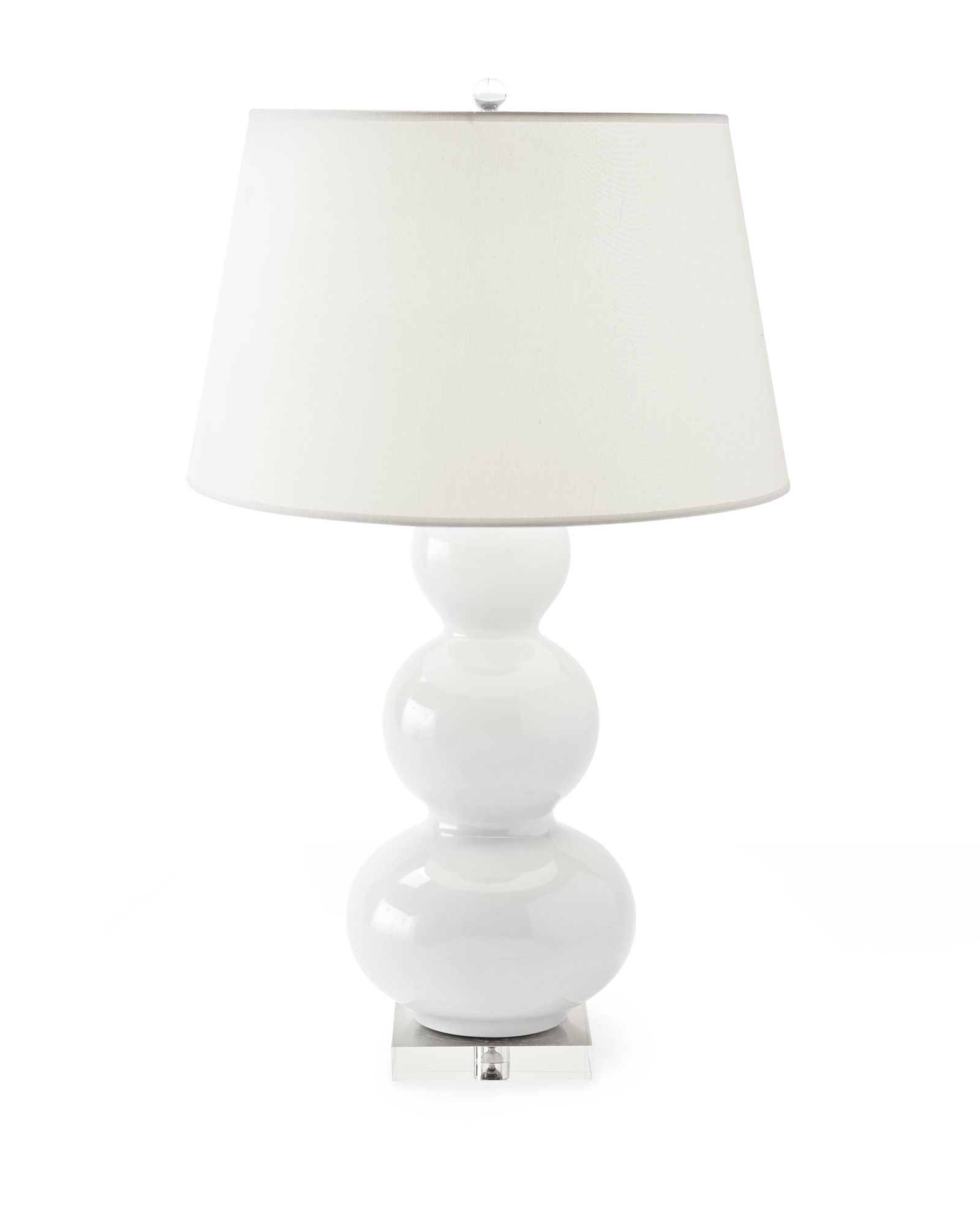 The Classic Gourd Lamp, Reimagined With A Glossy Finish And A Tailored  Linen Shade.