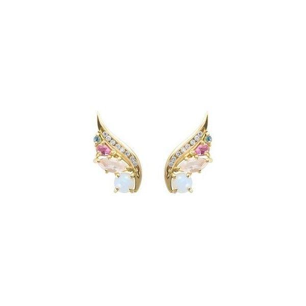 Daou Jewellery 18kt Gold, Diamond & Opal Phoenix Ear Climbers