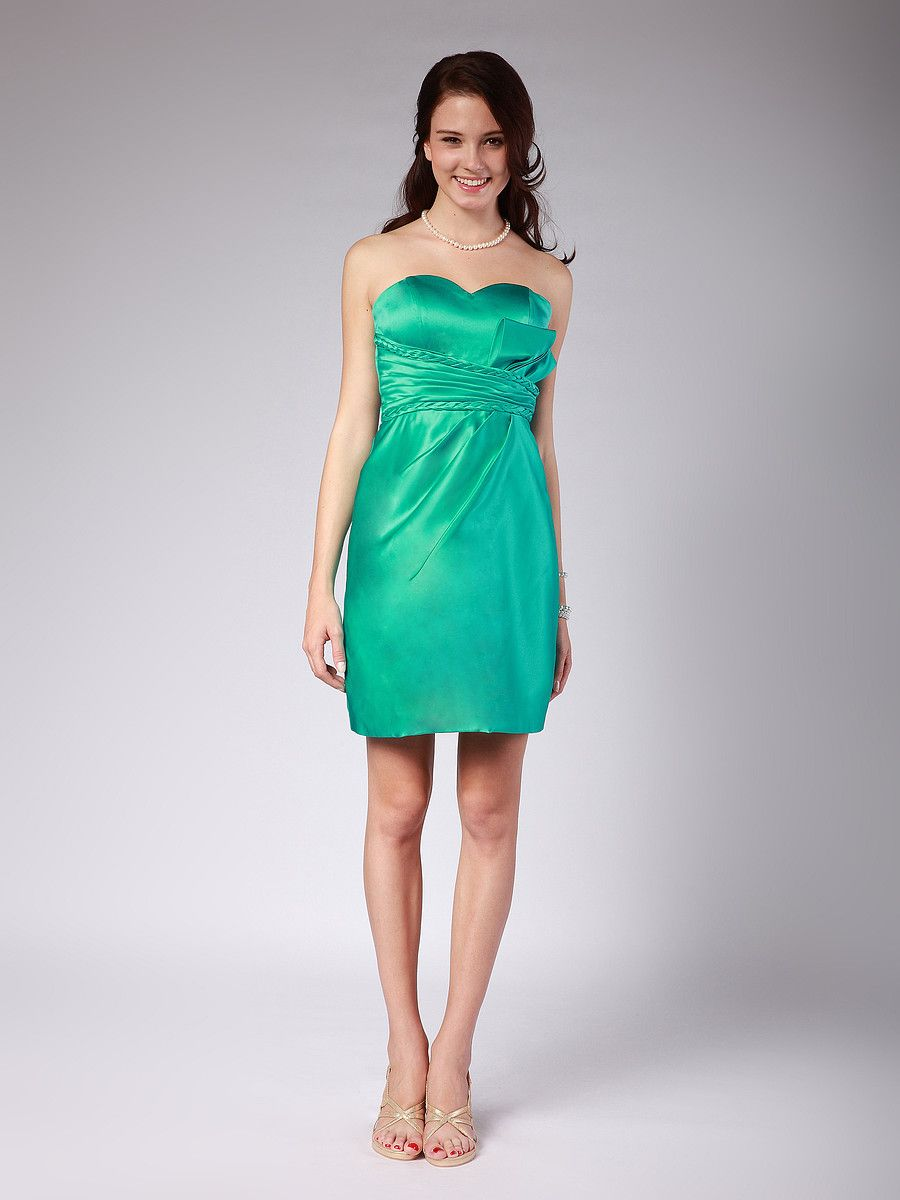 Braided Satin Bridesmaid Dress | * Kiss & Make Up Girl Obsessions ...