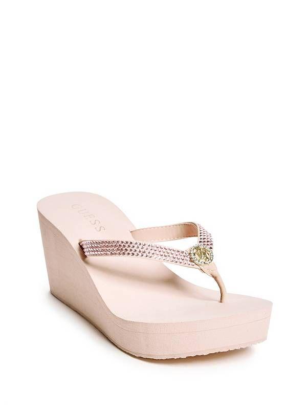 47bdca0afe4 Salima Wedge Flip Flops at Guess