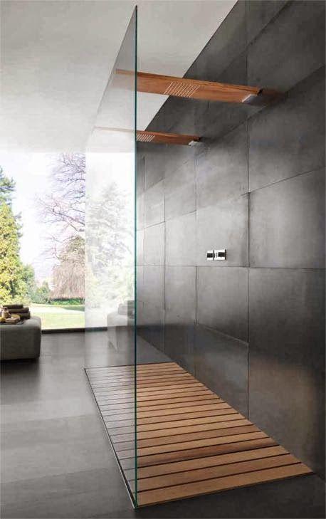 Dusche Holz   Innenarchitektur   Pinterest   Contemporary homes ...   {Duschboden holz 9}