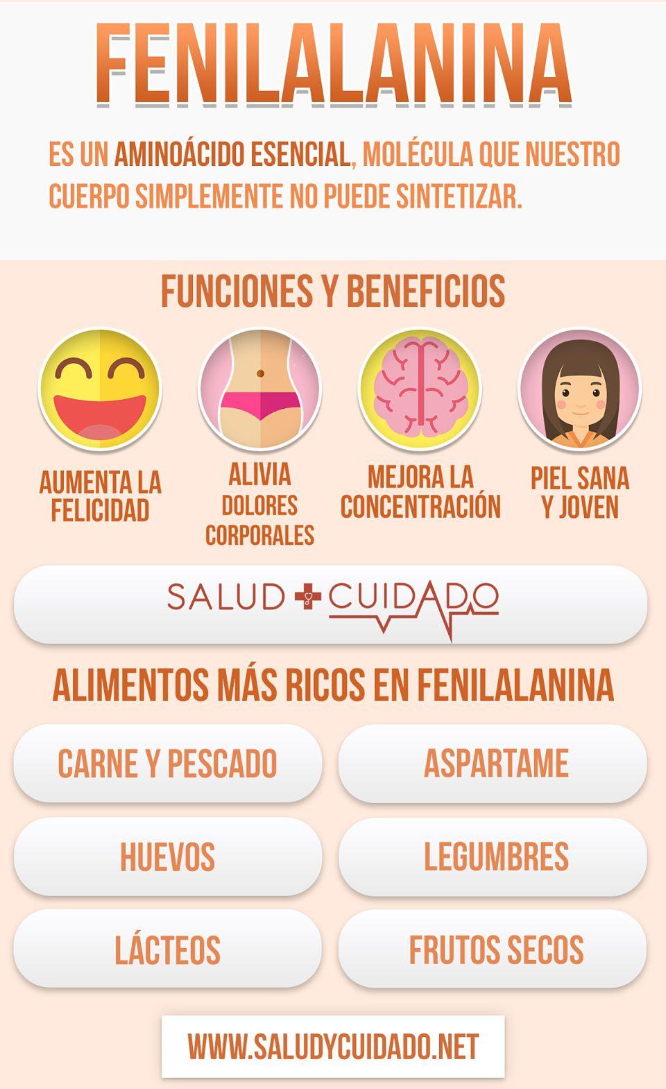 Alimentos Con Fenilalanina Funciones Y Beneficios Qué Es Y Para Qué Sirve Salud Beneficios Saludycuidado Saludable Alime Healthy Tips Health Nutrition