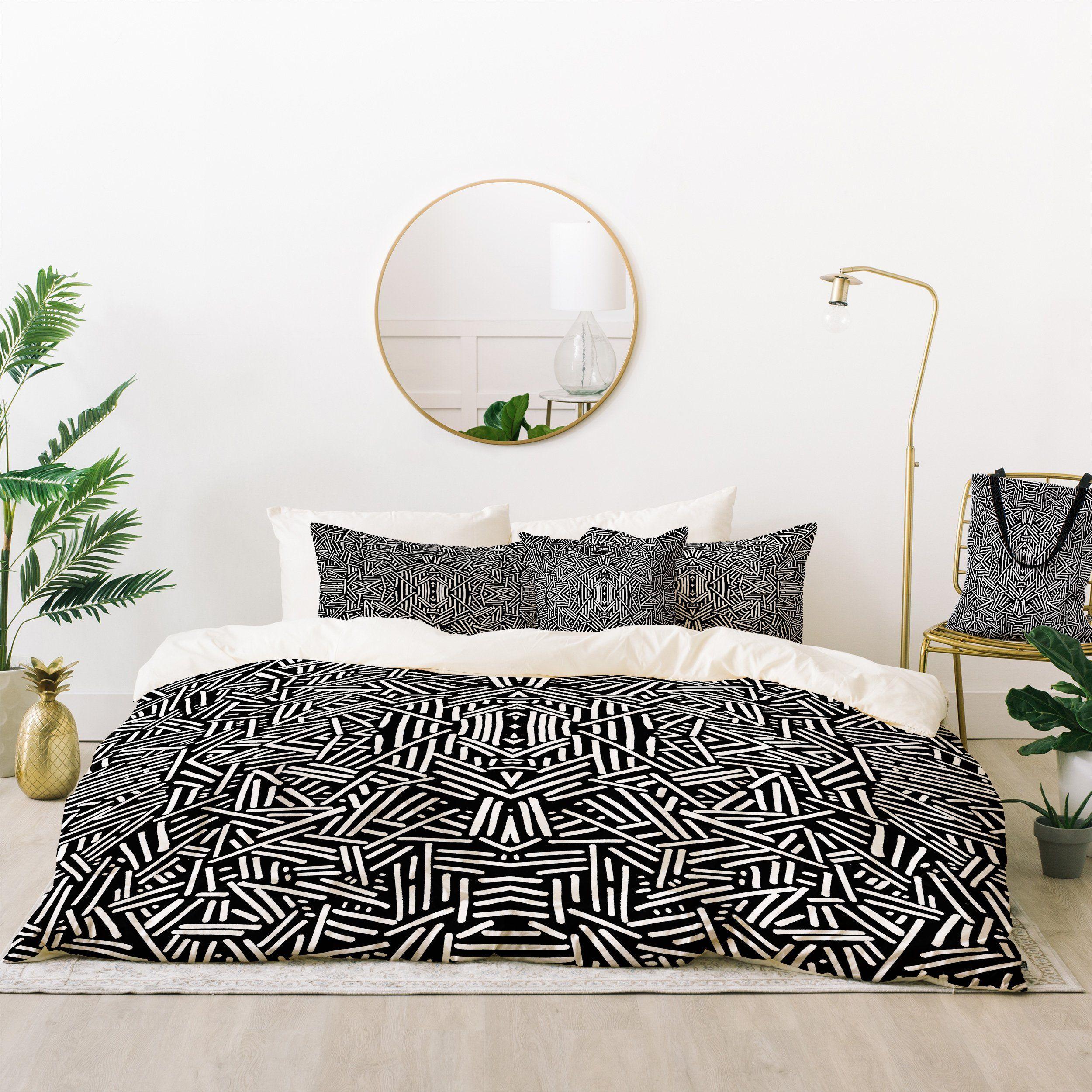 jacqueline maldonado radiate black white bed in a bag duvet throw