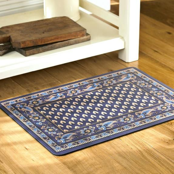 navy kitchen rug instock cabinets fantastic cushioned rugs arts fresh for marseille mats 58