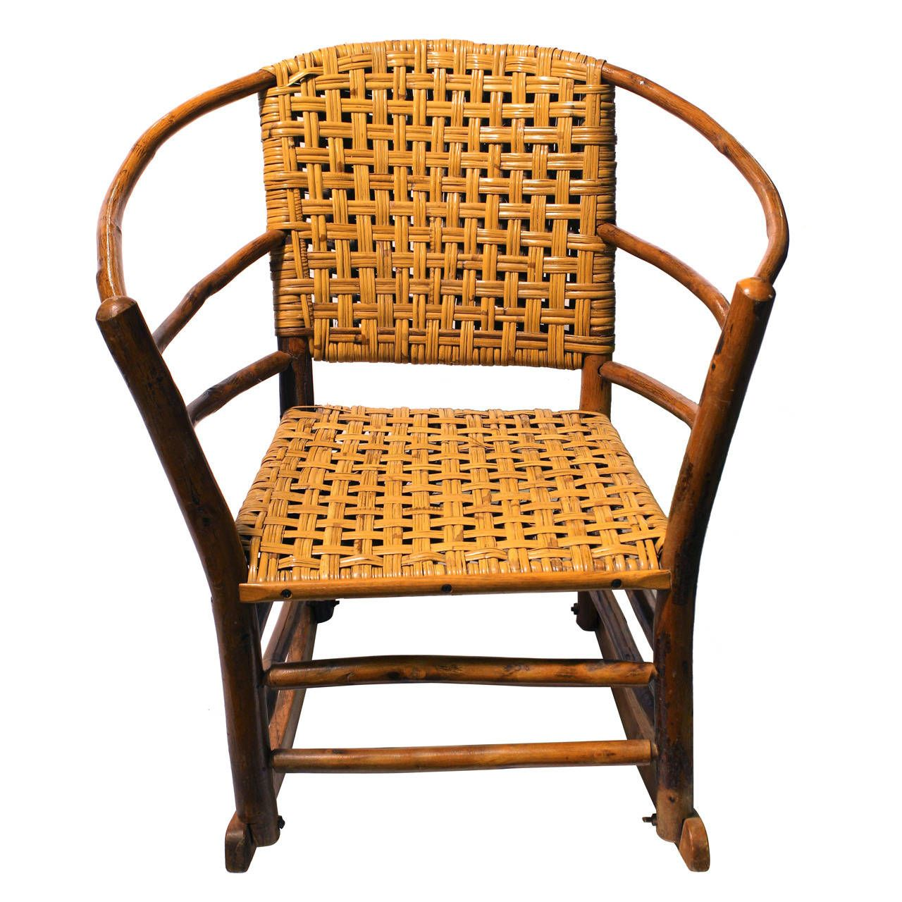 1940s American Old Hickory Co. Rocking Chair From a