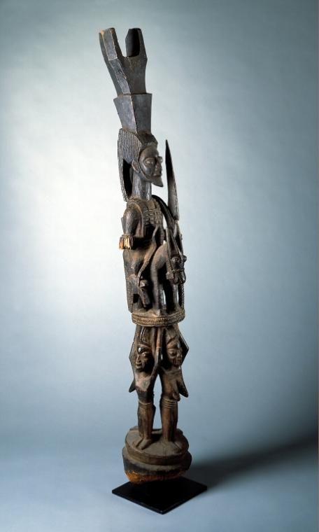 House Post, 1920s    Olowe Ise, Yoruba culture, Nigeria    wood