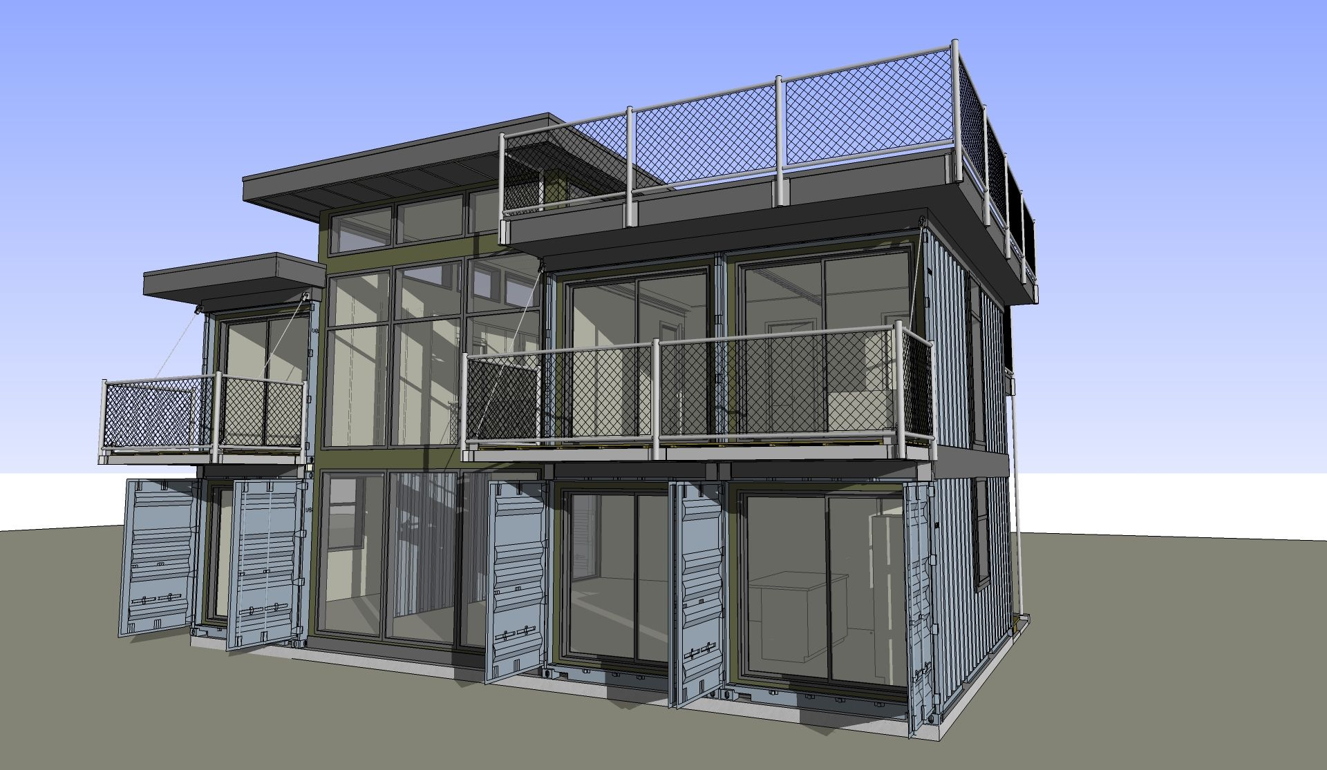 2×4 PLANS AVAILABLE | Zigloo Custom Container Home Design