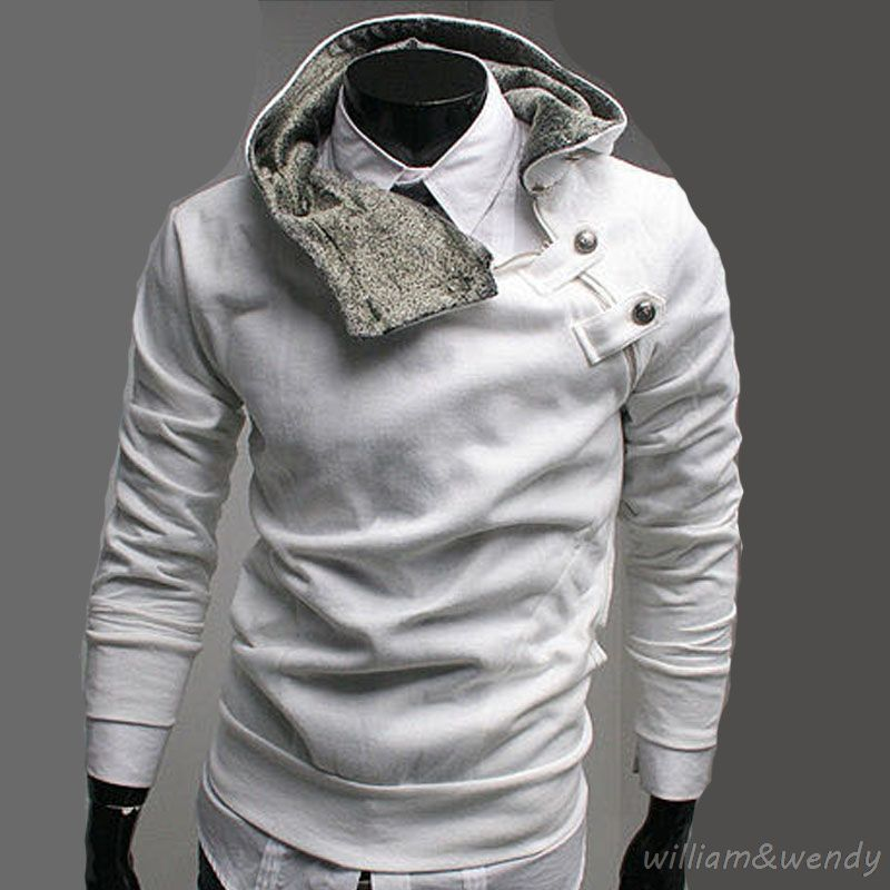 4027a0caf Click to Buy << Men White Hoodies Sportswear Russian Winter Casual  Tracksuit Sweatshirt Pullover Japan Streetwear Hip Hop Buttons Black  Overcoat #Affiliate
