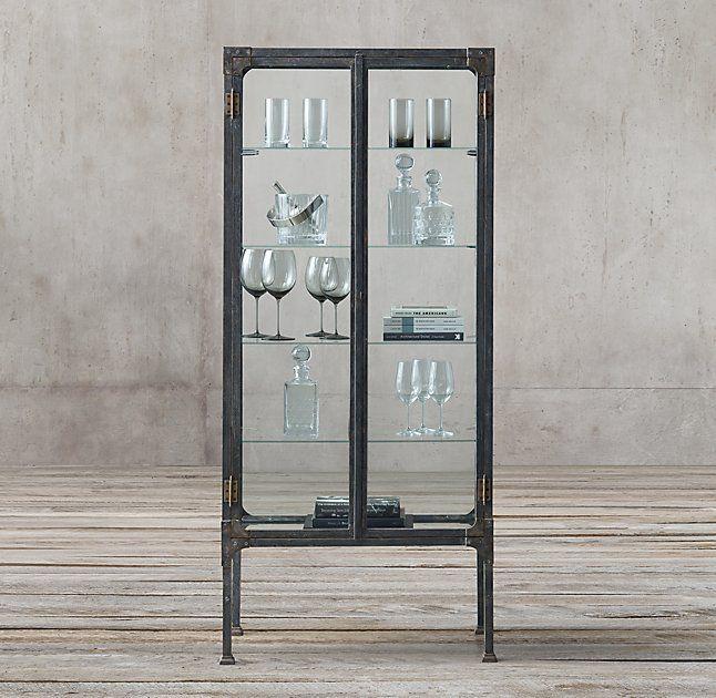 Restoration Hardware Circa 1900s Steel U0026 Glass Surgeonu0027s Cabinet. $1750
