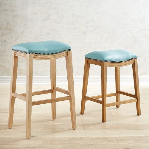Excellent Halsted Aqua Counter Bar Stool With Stonewash Wood Machost Co Dining Chair Design Ideas Machostcouk