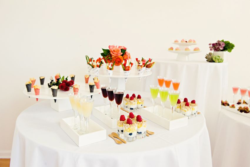 Modern Wedding Reception Decor All White With Vibrant Popsfull