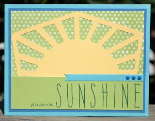 DAT'S My Style: You Are My Sunshine Card