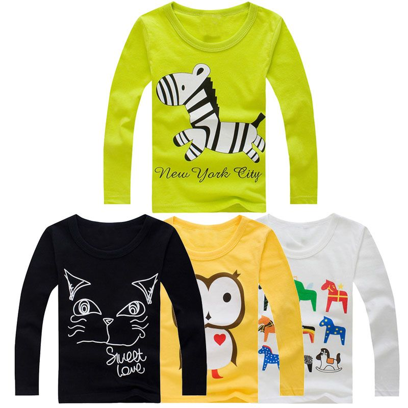 new arrival stylish cotton children t shirts long sleeve t shirts