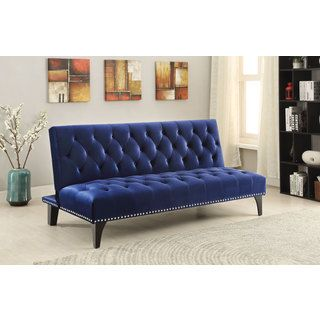 Shop for Coaster Company Colorful Velvet Sofa Bed Get free shipping
