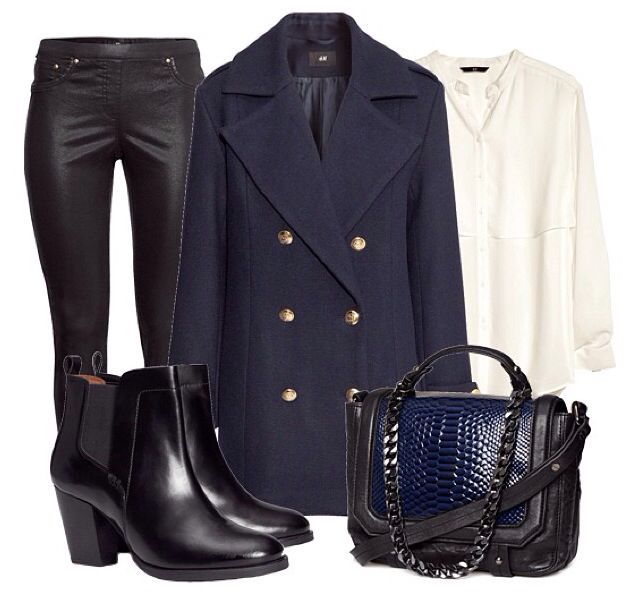 Fall look navy and black