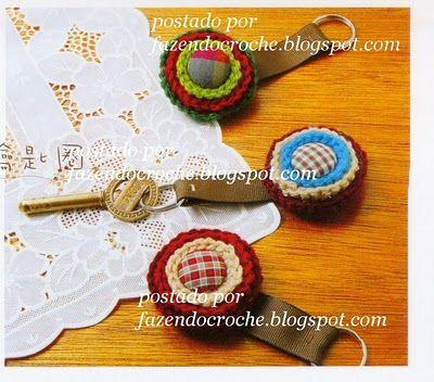 ...Fazendo Crochê...: Chaveiro
