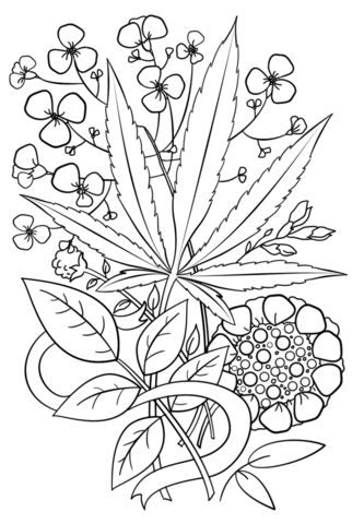 weed coloring pages Trippy Weed Coloring page | The ARTS | Pinterest | Coloring pages  weed coloring pages