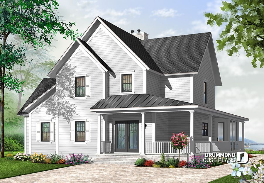 Discover The Plan 3926 Midwest Which Will Please You For Its 4 Bedrooms And For Its Country Styles Basement House Plans Country House Plans House Plans