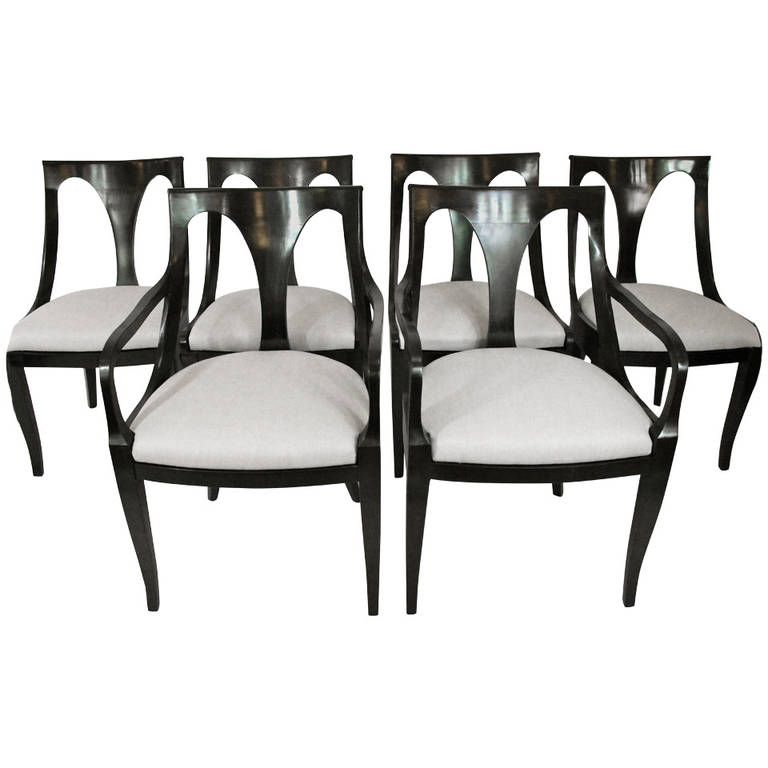 Set Of Six Empire Style Dining Chairs By Kindel