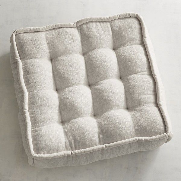 Pier 1 Imports Chenille Tufted Floor Cushion In ($100) ❤ liked on ...