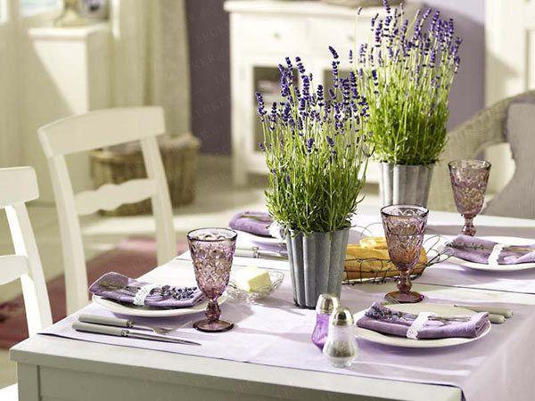 Tischdeko Ideen Für Die Dinner Tafel Lavendel Hochzeitsdeko