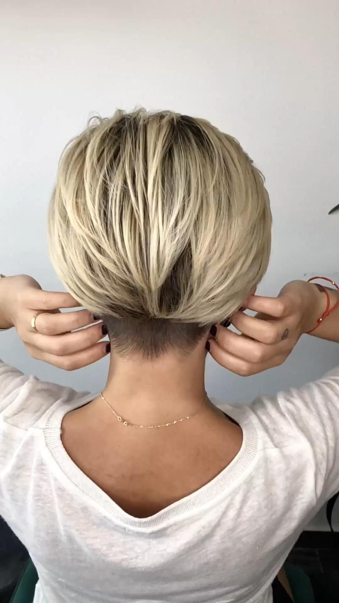 Shaved short pixie bob haircut - Hairstyles