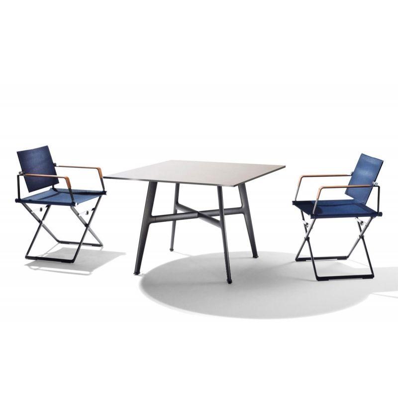 Dedon SeaX Esstisch quadratisch 100x100 cm, SeaX Outdoor Loungemöbel ...