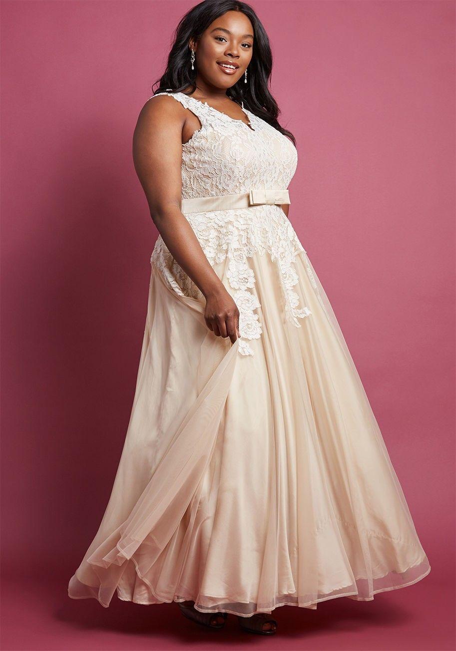 Bbw wedding dresses  Plus Size wedding Memorable Magic Maxi Dress in Tea  fashion