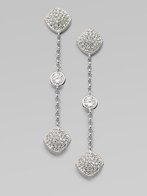 Adriana Orsini Stone Accented Station Drop Earrings $95.00