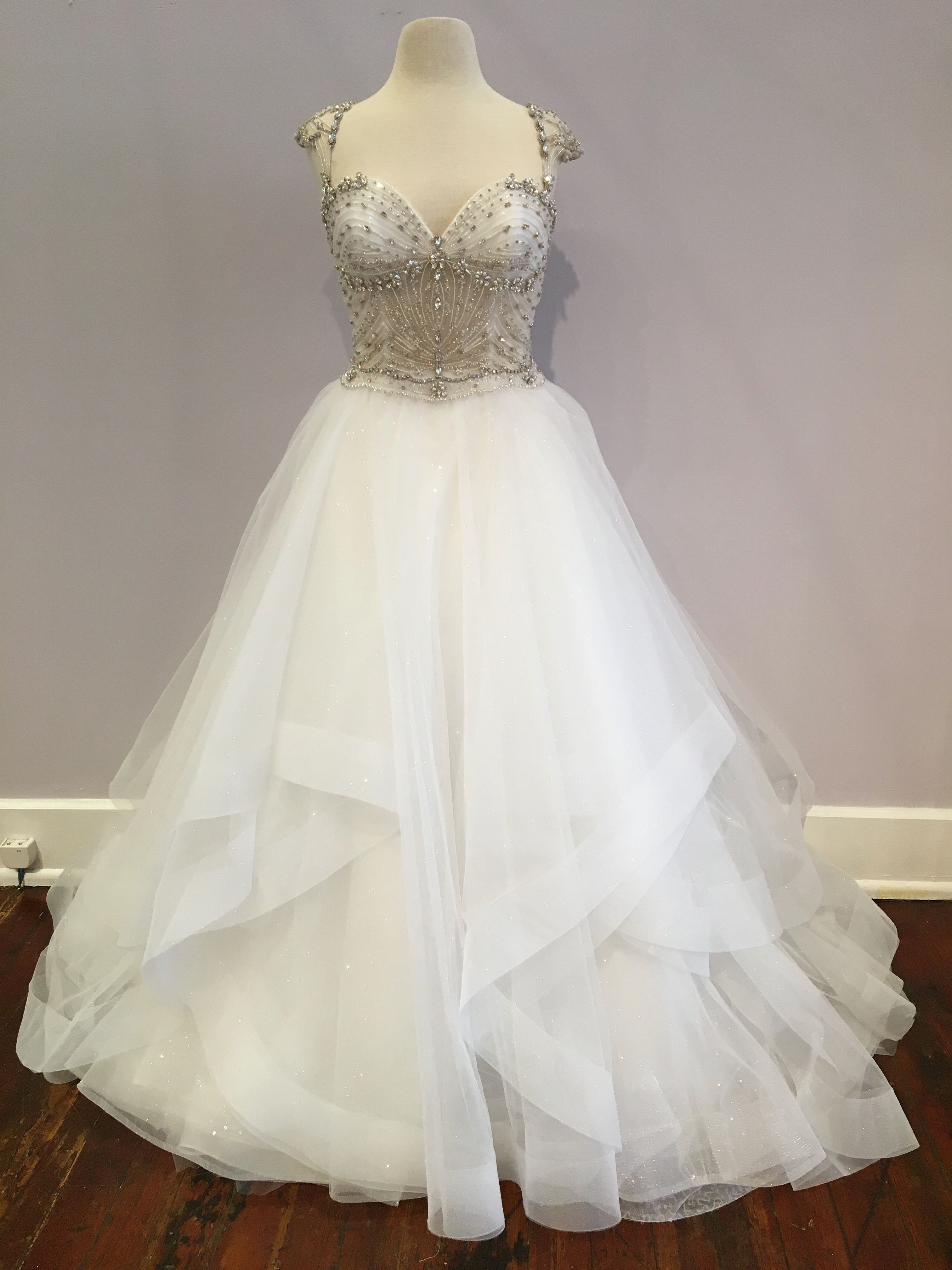 2deb5108c7ab Eve of Milady 1548 is a glamorous ball gown! The sculpted bodice features a  sweetheart neckline framed by cap sleeves, intricate beading, and a low  back!