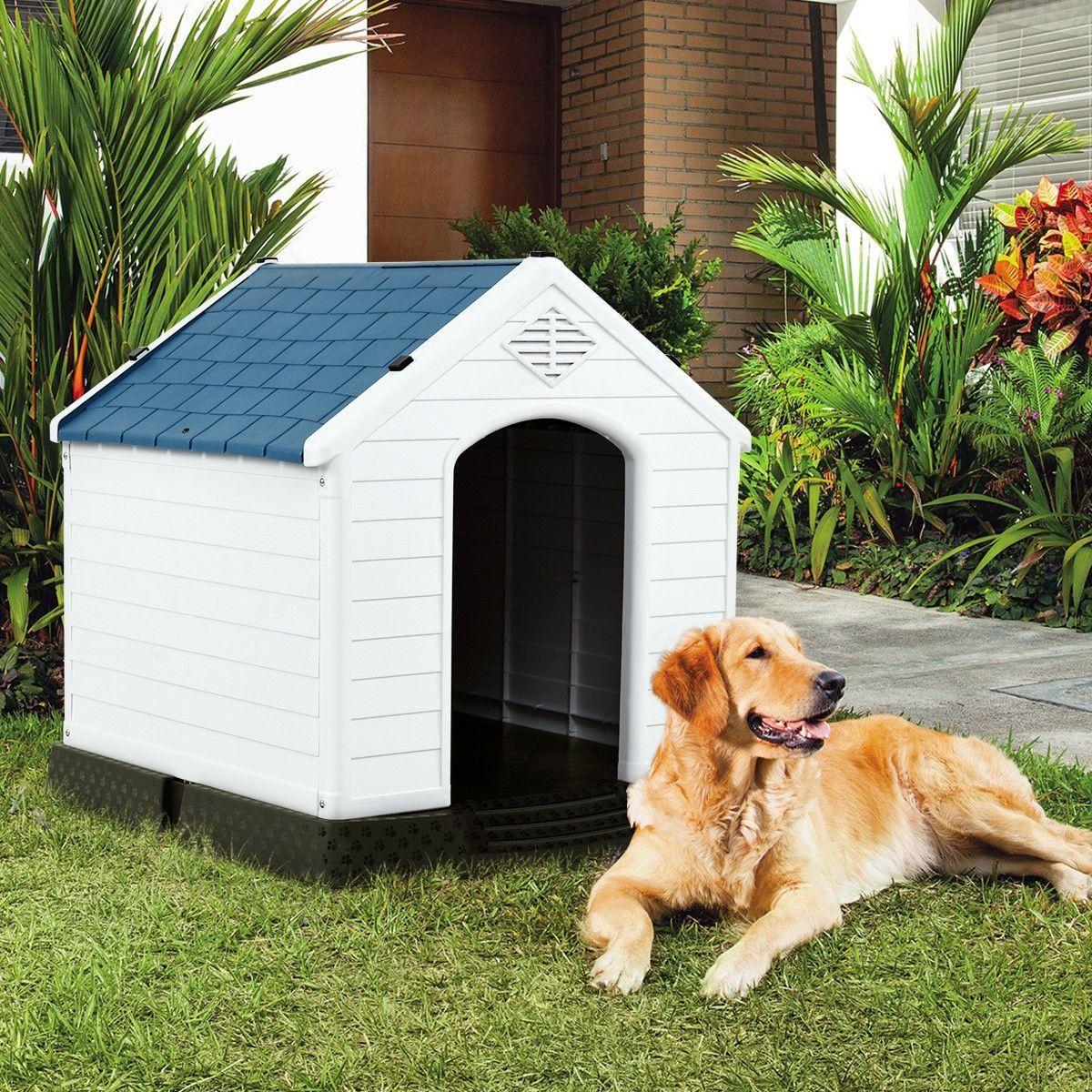 Plastic Waterproof Ventilate Pet Puppy House In 2020 Plastic Dog House Outdoor Dog House Shelter Puppies